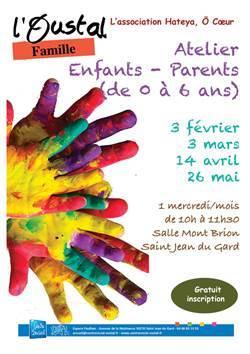 Atelier Enfants-Parents de 0 à 6 ans organisé par L'Oustal