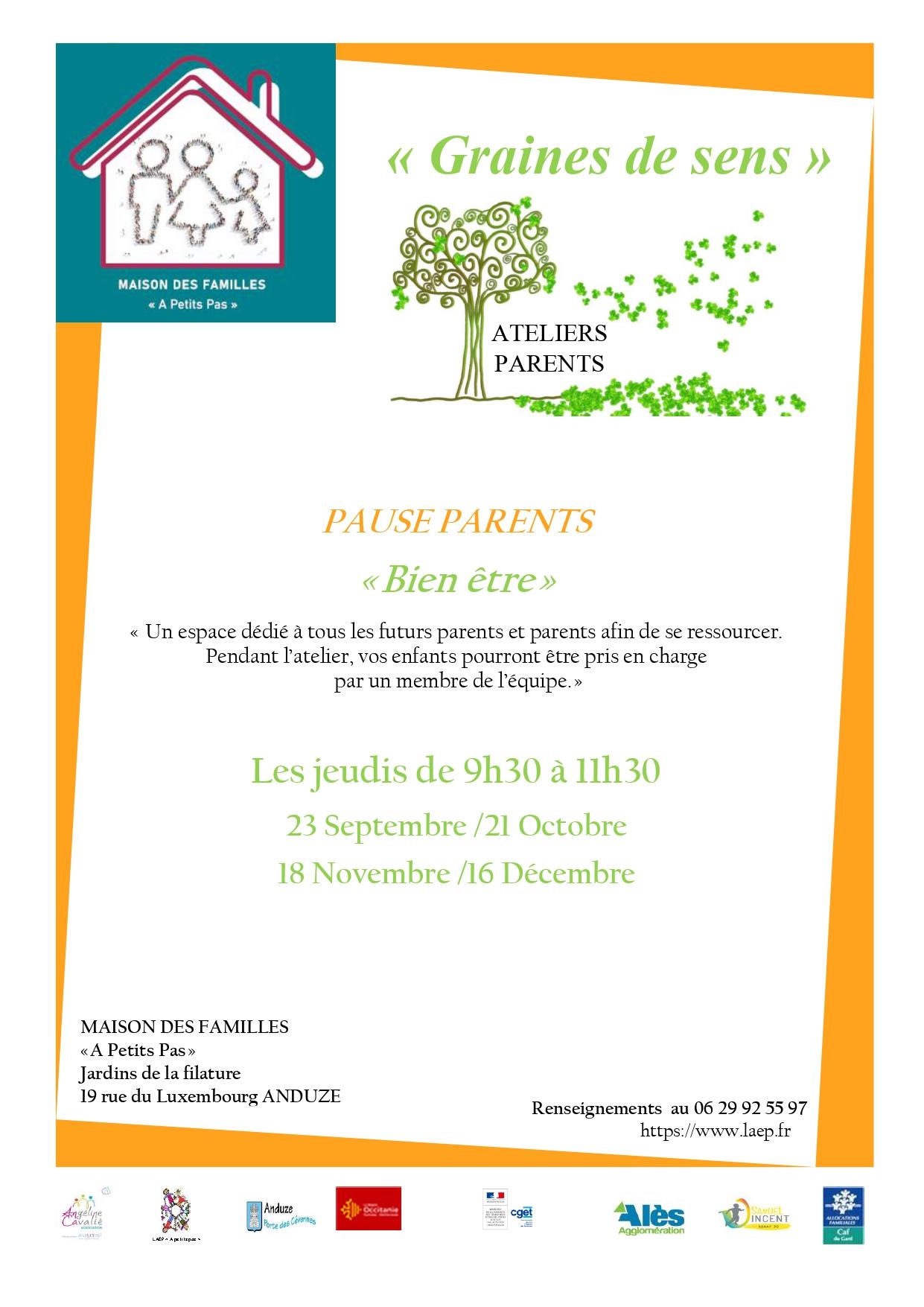 """Atelier Pause Parents """" Bien être"""""""