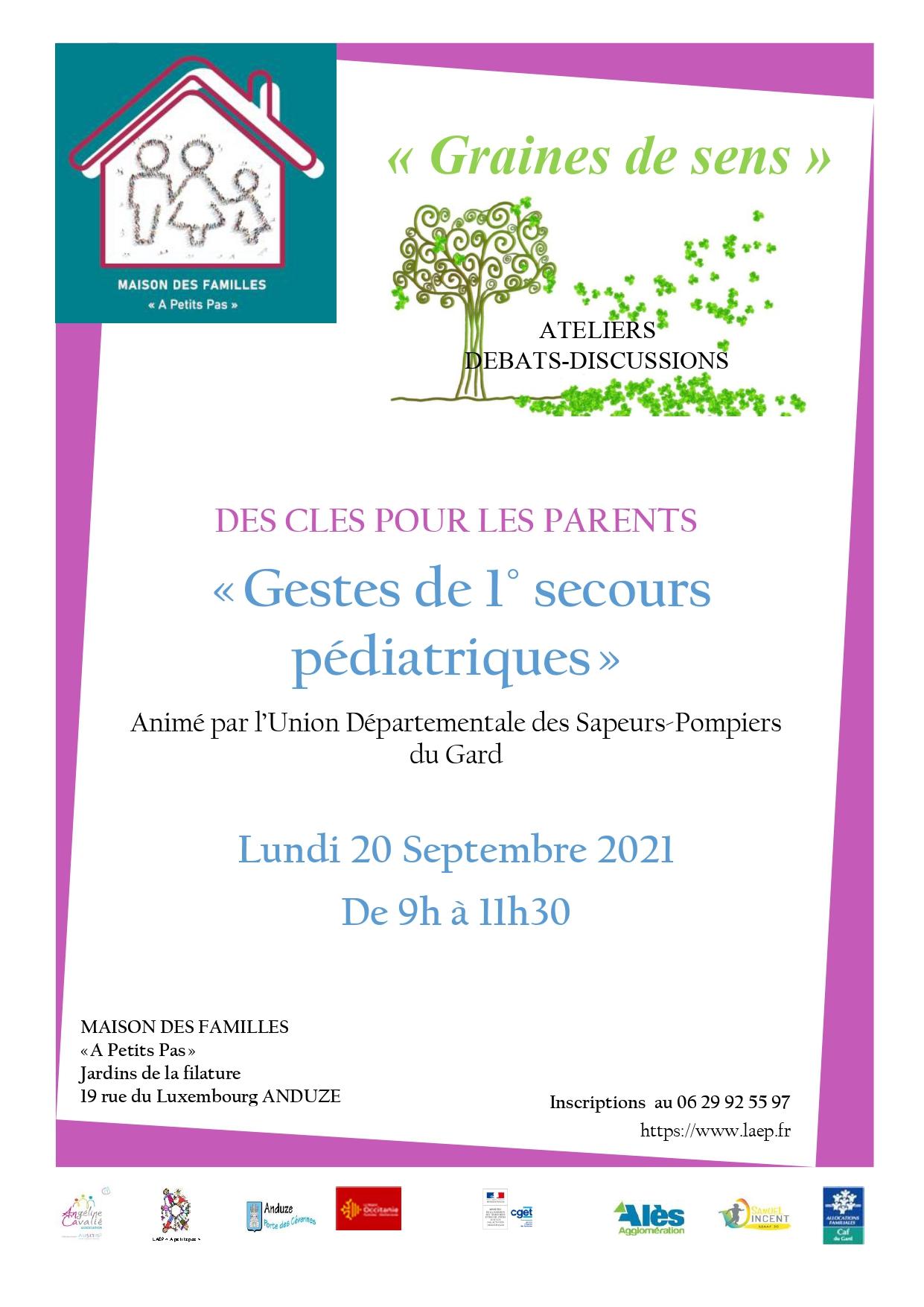 """Atelier Des Clés pour les Parents """" gestes de 1ers secours pédiatriques"""""""