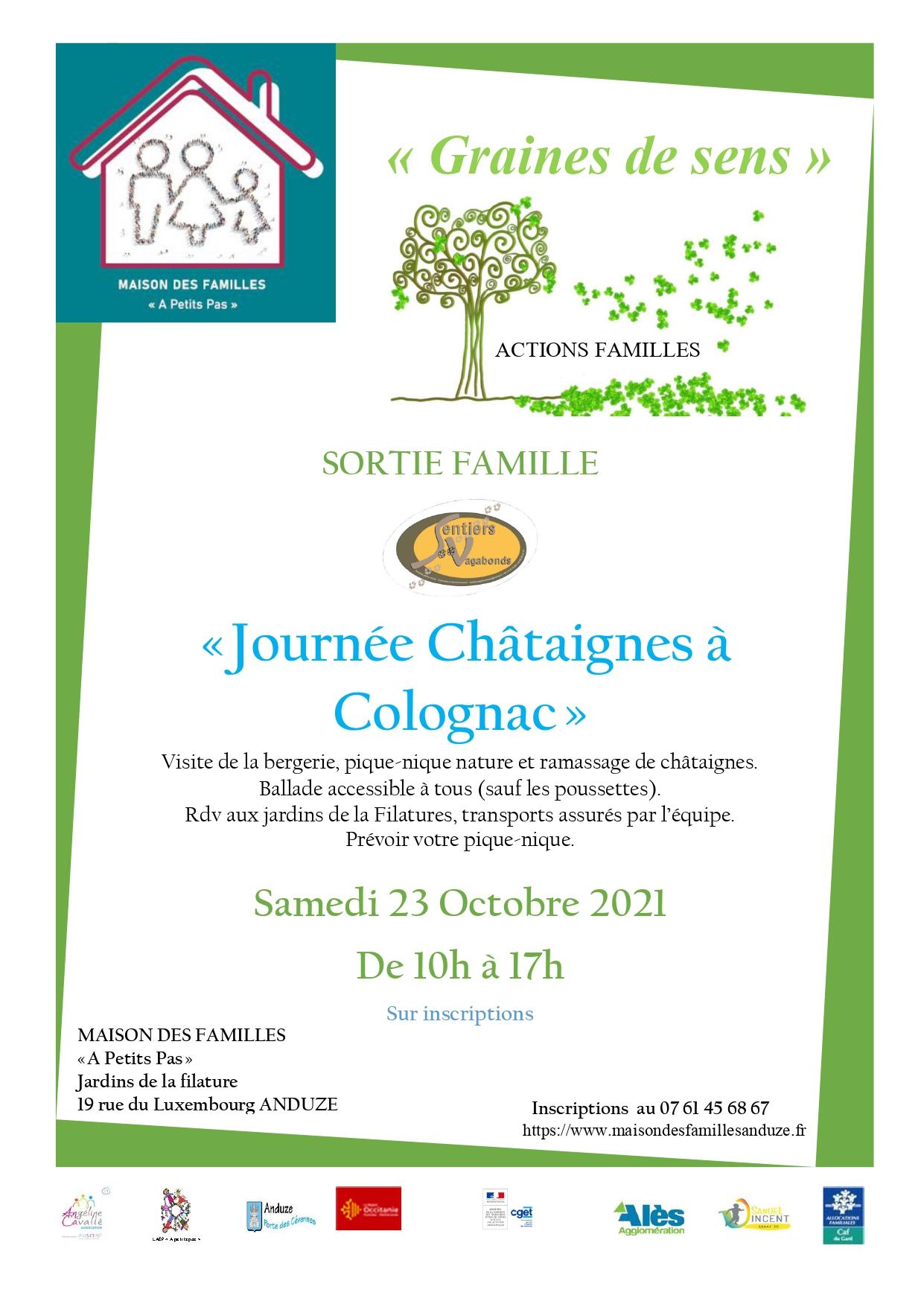 """Sortie Famille """"Journée Châtaignes à Colognac"""""""